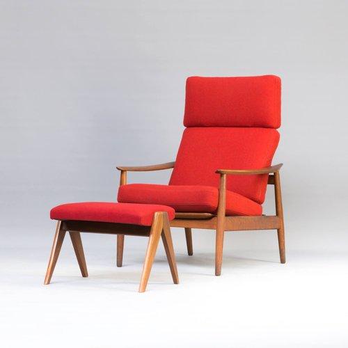 Easy Chair & Footrest Set by Arne Vodder for France & Søn