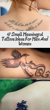 Photo of 47 Small Meaningful Tattoos Ideas For Men And Women – Tattoo | Bineyy.Com  47 Sm…,  #Bineyy…