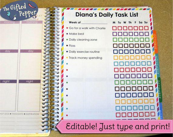 Weekly Checklist Page Or Dashboard Erin Condren Planner Stickers