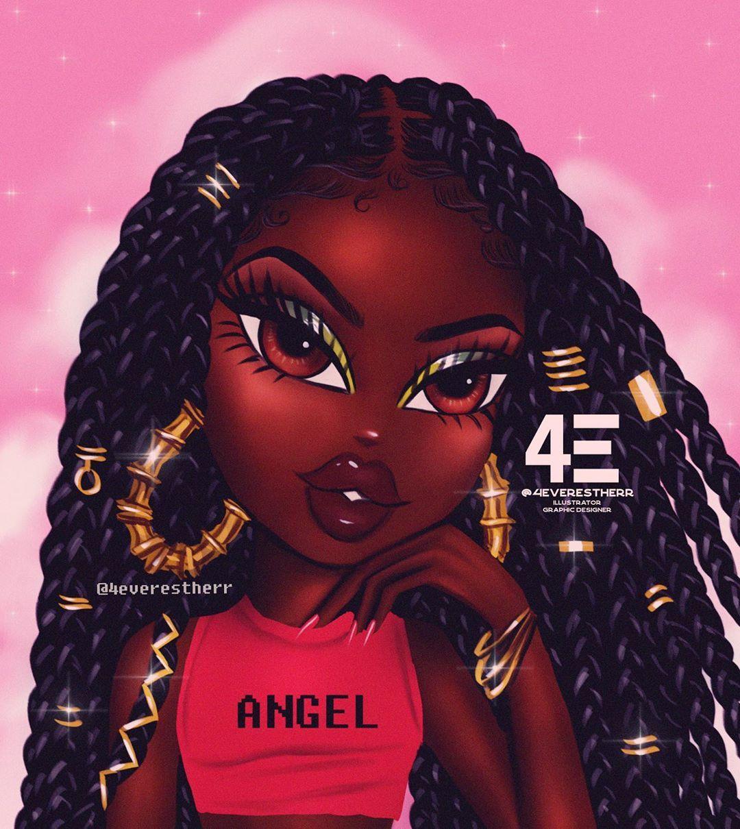 Estherr Luntadila On Instagram Bratz X Box Braids Commissions Are Back On September 1 Drawings Of Black Girls Black Girl Art Black Bratz Doll
