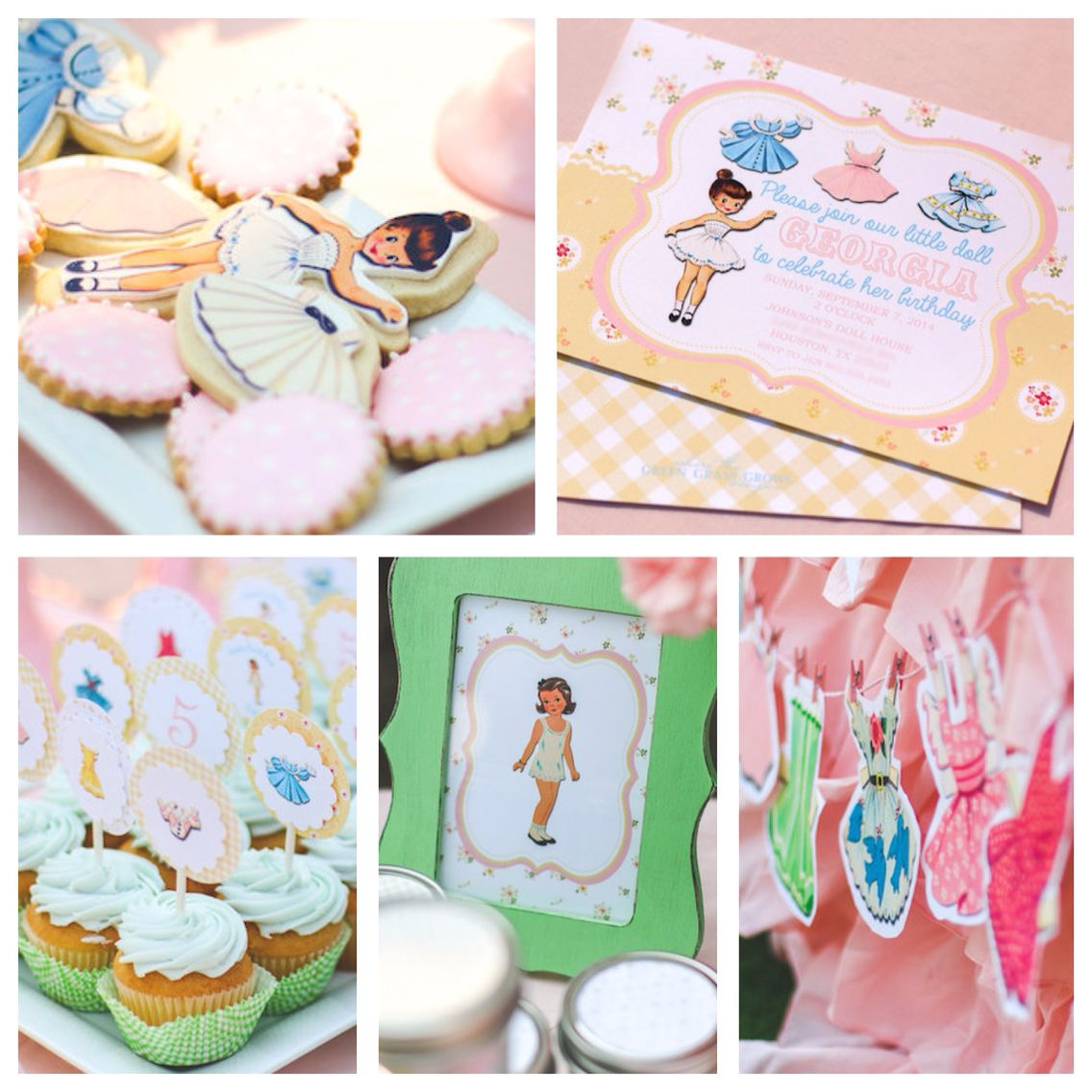 Uncategorized Vintage Themed Birthday Party girly vintage paper doll themed birthday party via karas ideas perfect theme if you