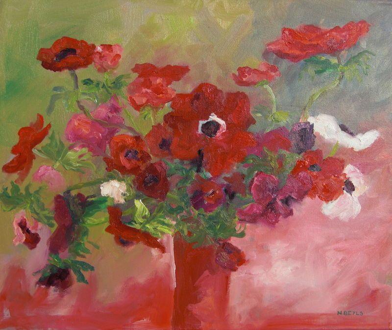 Site peinture a l huile rouges et roses photo de peintures l 39 huile f e des brumes - Pinterest peinture a l huile ...