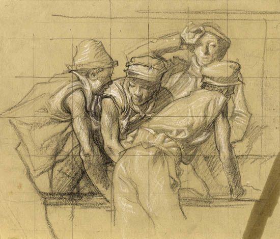 Frank Brangwyn - Navvies at Work, 1905