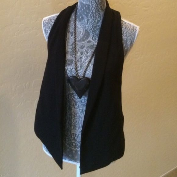 Beautiful Vest!!! SALE Excellent condition!!! Size small. Great with baggy tees and boyfriend jeans. CAbi Jackets & Coats Vests