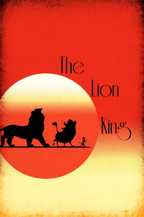 The Lion King (1994) - Minimal Movie Poster by Harshness ~ #minimalmovieposter#disneyminimal