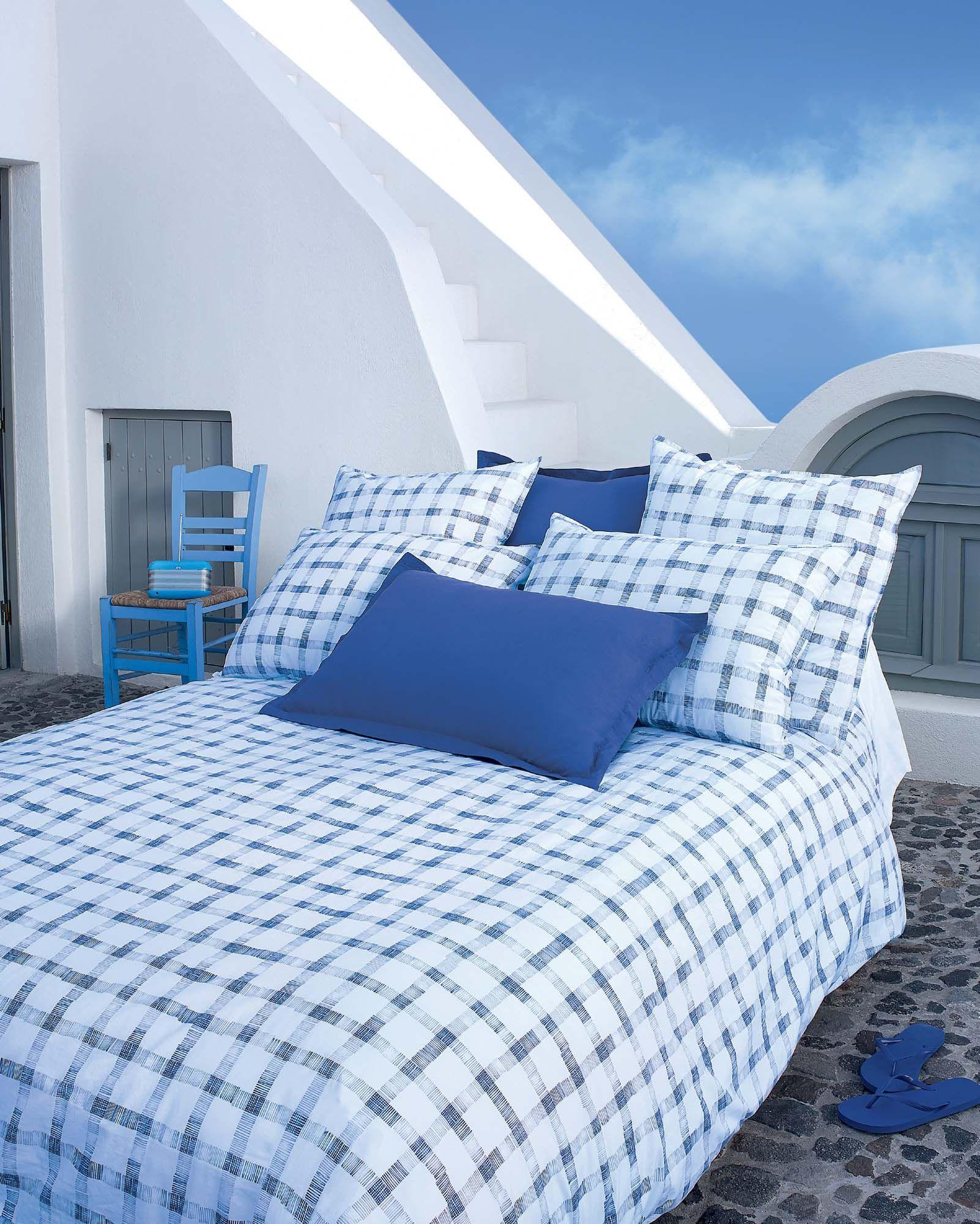 linge de lit jalla ferdinand bleuet housse de couette. Black Bedroom Furniture Sets. Home Design Ideas