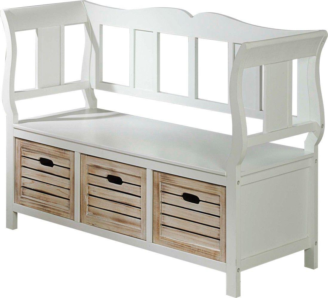 Jysk 169 99 Paulina Bench White Storage Furniture