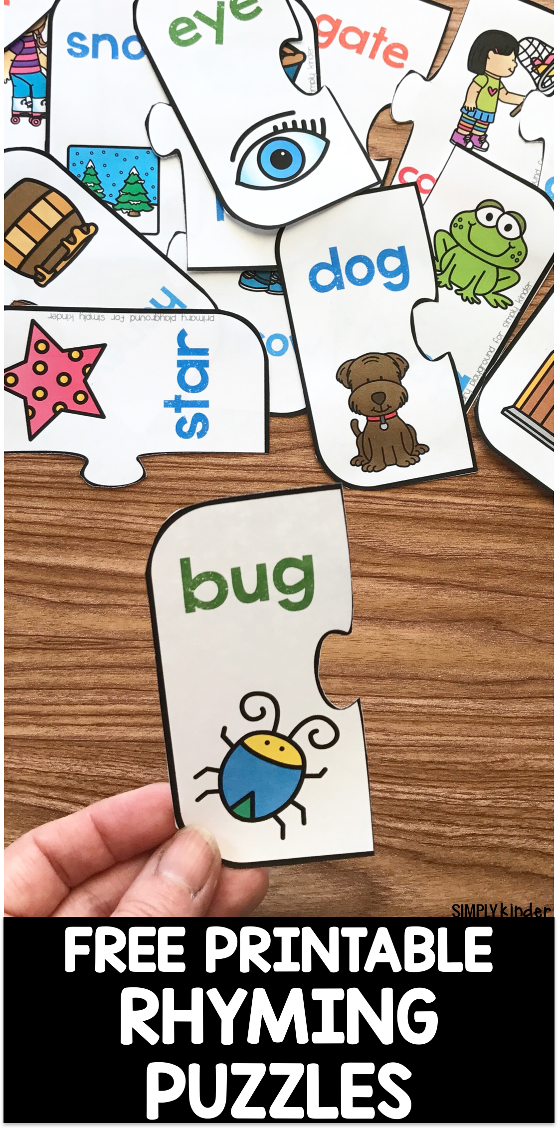 Free Printable Rhyming Puzzles