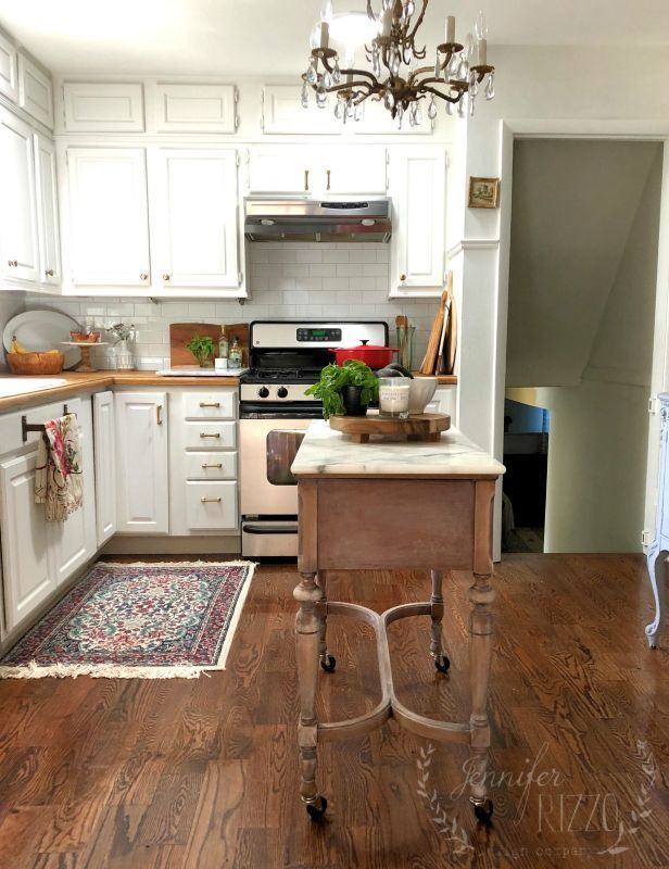 $100 Kitchen Island Idea- Repurposed Sewing Table Kitchen ...