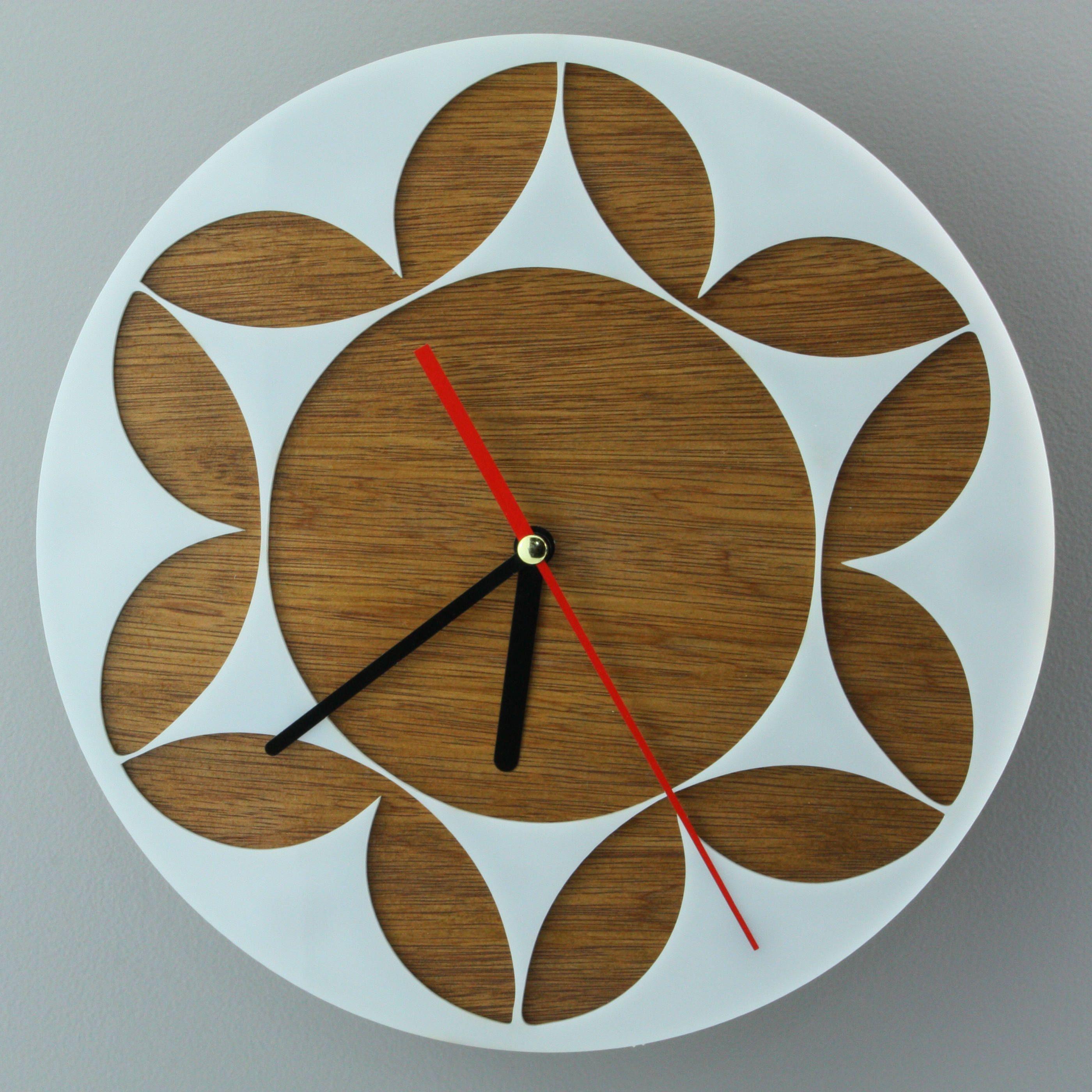 Wall clockwooden wall clocksteampunk wall clockbig ovalround