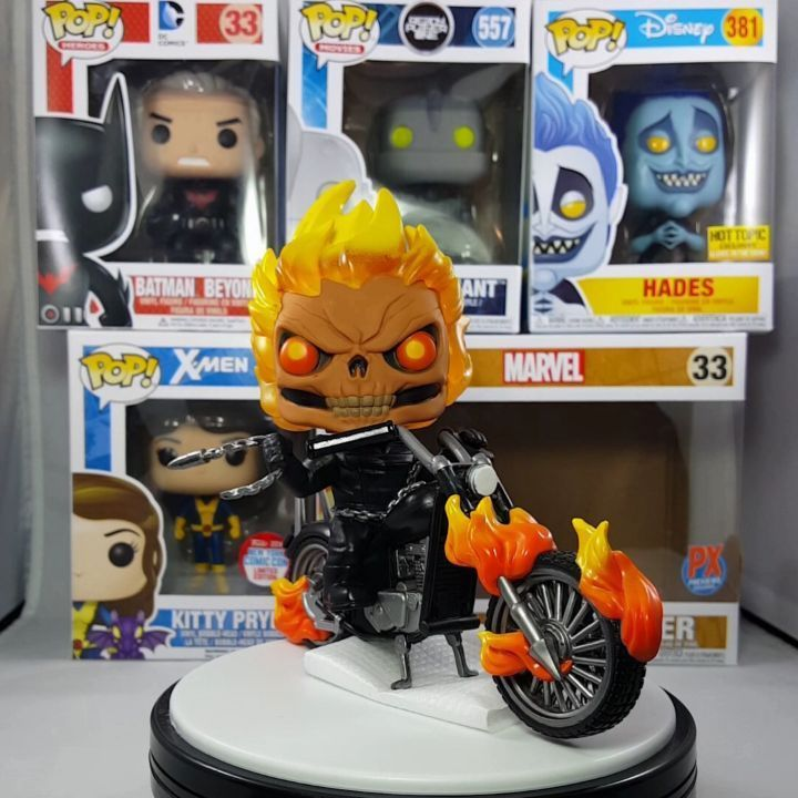 Closer Look At The Custom Ghost Rider Funko Pop Ride What