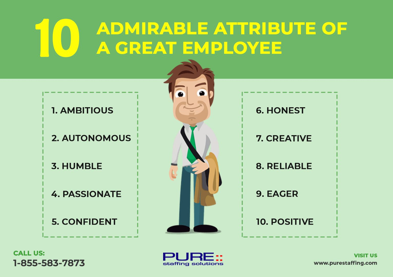 10 Admirable Attribute of a Great Employee Visit us https