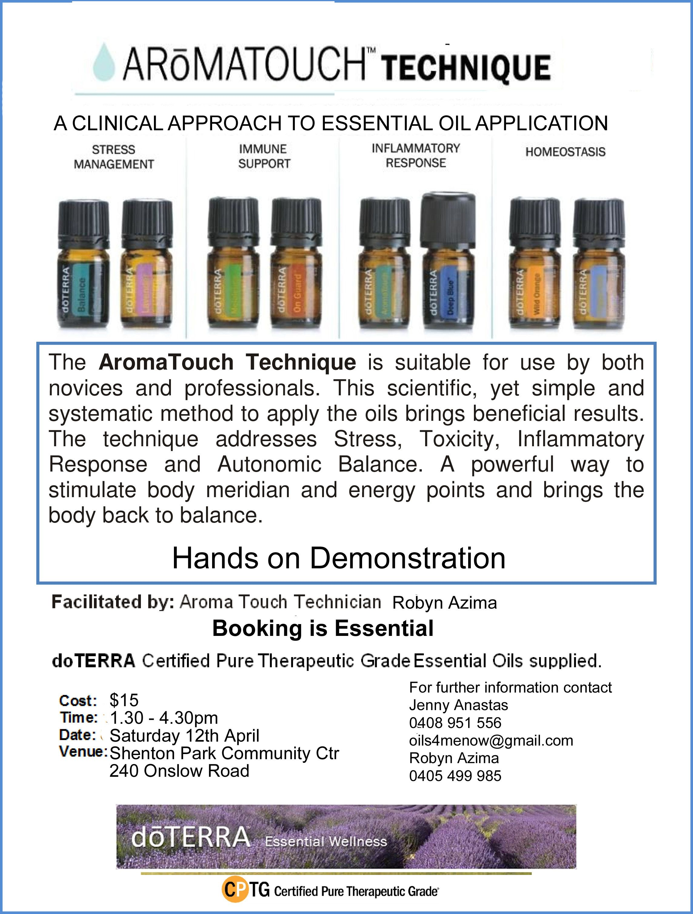 Image Result For Doterra Aromatouch Flyer Oils Aromatouch