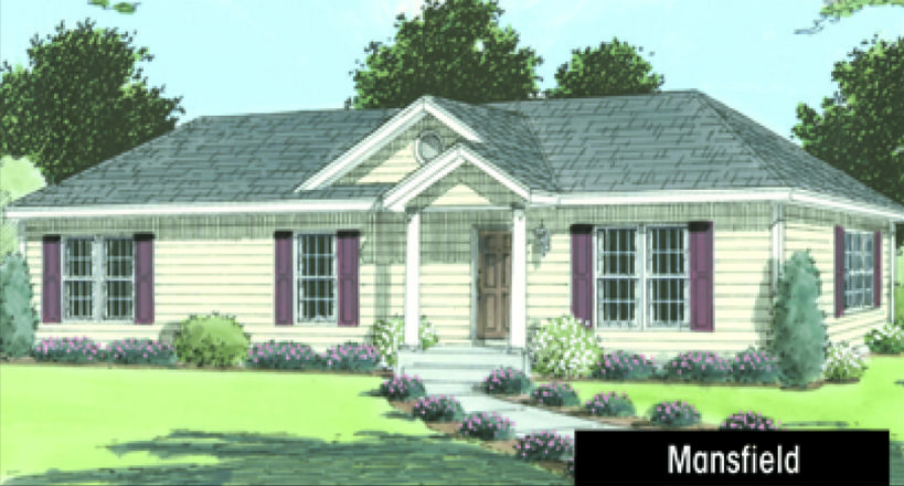 The Mansfield Ii Atrium International Inc Ranch House Exterior Brick Ranch Houses Roof Architecture