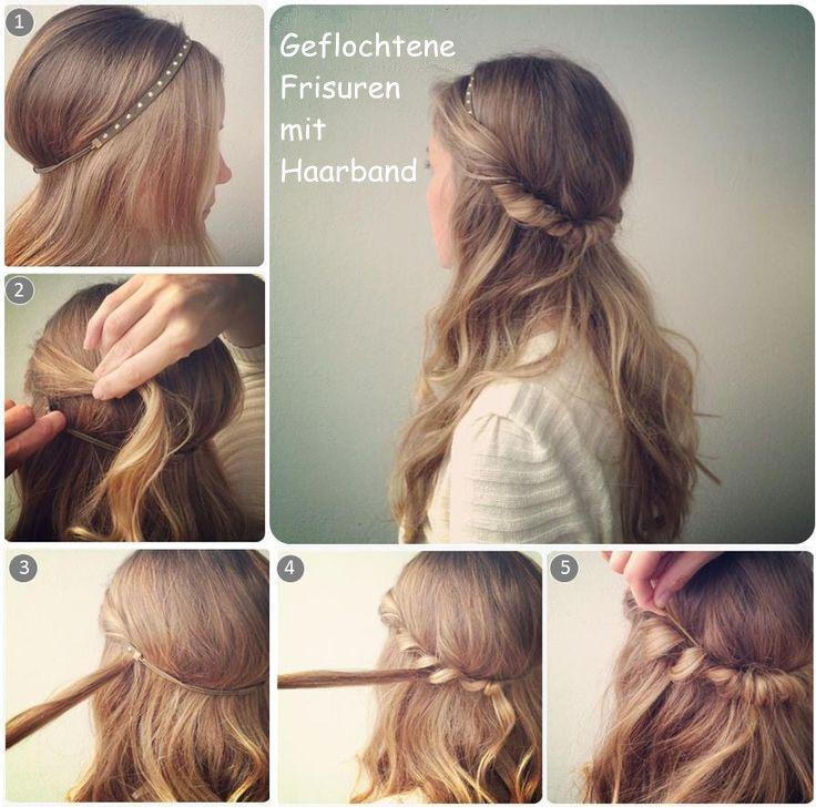 Haarband frisur sehr lange haare