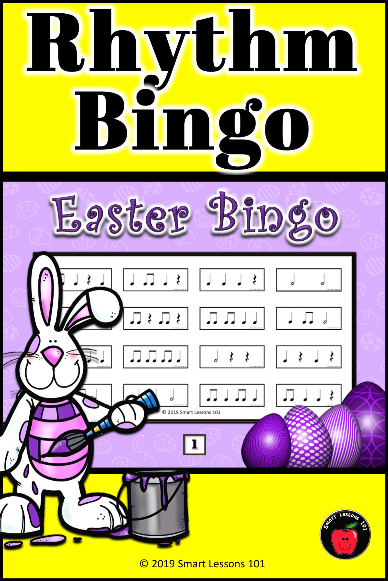 Easter Music Game Easter Music Rhythm Bingo Rhythm Game