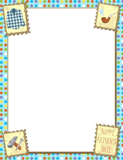 Printable Father\'s Day border. Free GIF, JPG, PDF, and PNG downloads ...