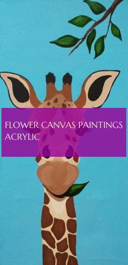 flower canvas paintings acrylic