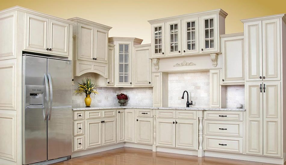 Beautiful Antique White Kitchen Cabinets | Antique white ...