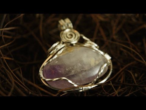 Wire wrap pendant with stone no holes how to make wire jewelery wire wrap pendant with stone no holes how to make wire jewelery 149 youtube aloadofball Image collections