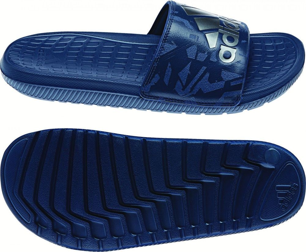 c7fa5443faae5 Adidas BA8858 Voloomix Slides Mystery Blue Slipper Men s Sandals Sea  Slippers  adidas  FlipFlops