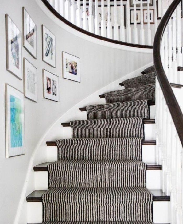 Top 70 Best Painted Stairs Ideas: Best Cool Stair Runner Ideas (4)