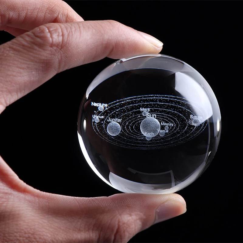 6cm Solar System Crystal Ball Planets 3d Laser Engraved Sphere Glass G Engraved Giftsly All Rights Reserved Engraved Crystal Crystal Ball 3d Solar System