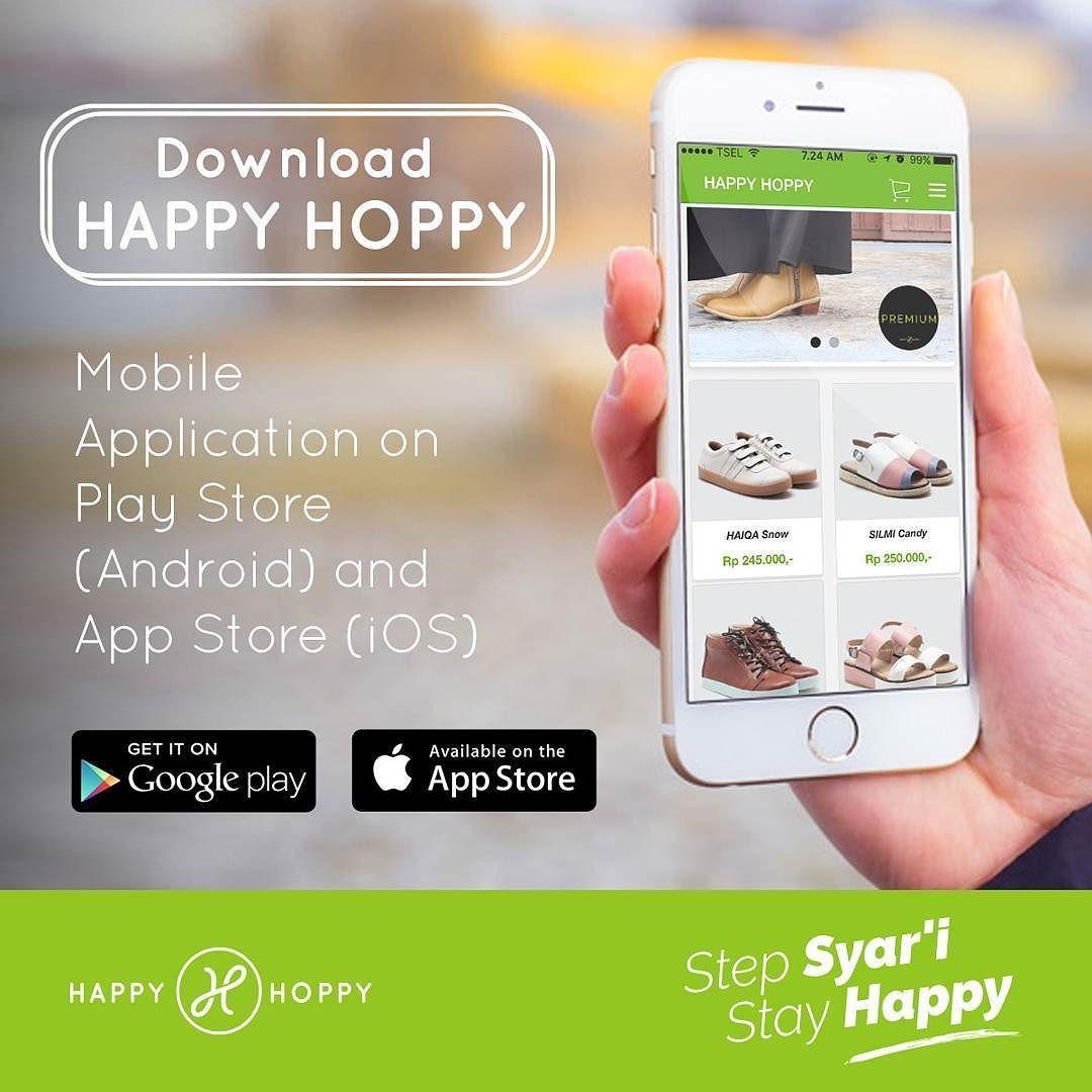 Alhamdulillah Happyhoppyid Mempermudah Muslimah Semua Utk Mendapatkan Produk Sepatu Ready Stock Dgn Cara Order Lewat Aplikasi Mobile Aplikasi Android Produk