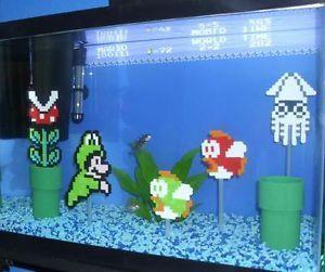 Custom Super Mario Aquarium Kit Decorations And Background Fish Tank Safe Super Mario Bros Super Mario Bros Nintendo Lego Turtles