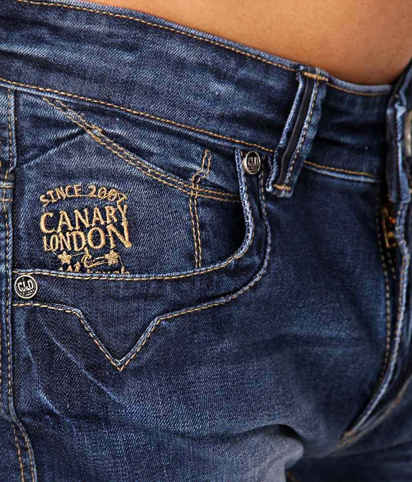 4a0006073 Canary London Blue Slim Fit Jeans - Buy Canary London Blue Slim Fit Jeans  Online at Low Price in India - Snapdeal