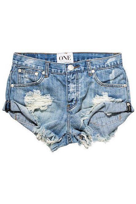 One Teaspoon 2016 Hendrix Bandits Shorts Style Fashion Light Denim