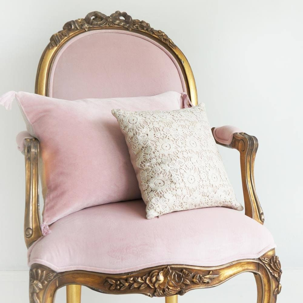 Plushious Cushion in Dusky Pink | Pink Velvet French Bedroom Cushion ...