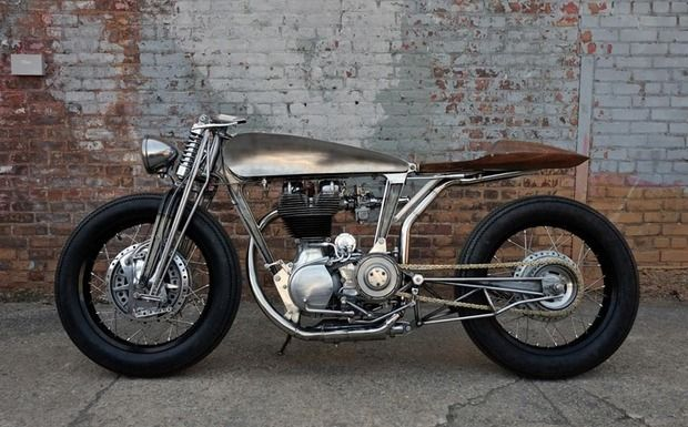 Max Hazan's 1996 Royal Enfield Bullet 500. An artistic take on custom motorcycle design from a former airplane and boat builder.