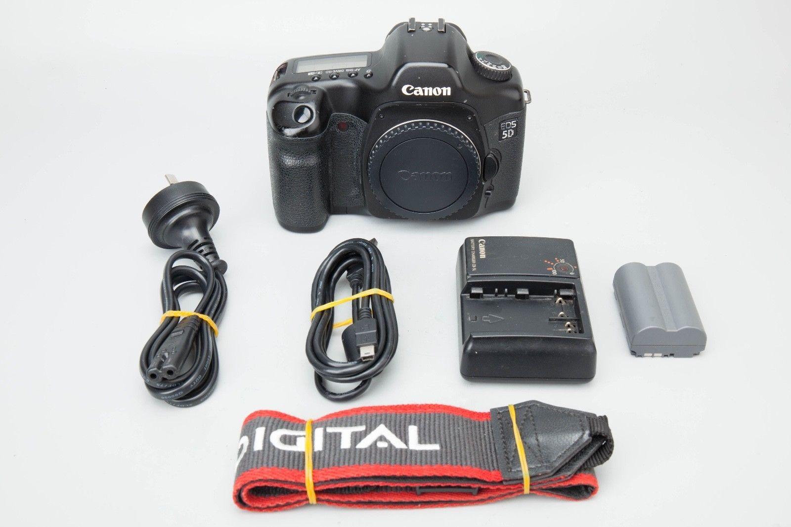 Canon EOS 5D 12.8MP Full Frame DSLR Camera Bod Mark I Mark1 Classic ...