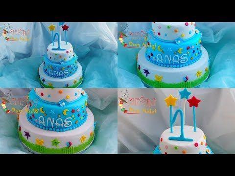 كاطو عيد ميلاد الأطفال مع طريقة تغليف الجينواز بعجين السكر و نصائح لوضع طبقات الكاطو على بعضها Youtube Cake Birthday Cake Desserts