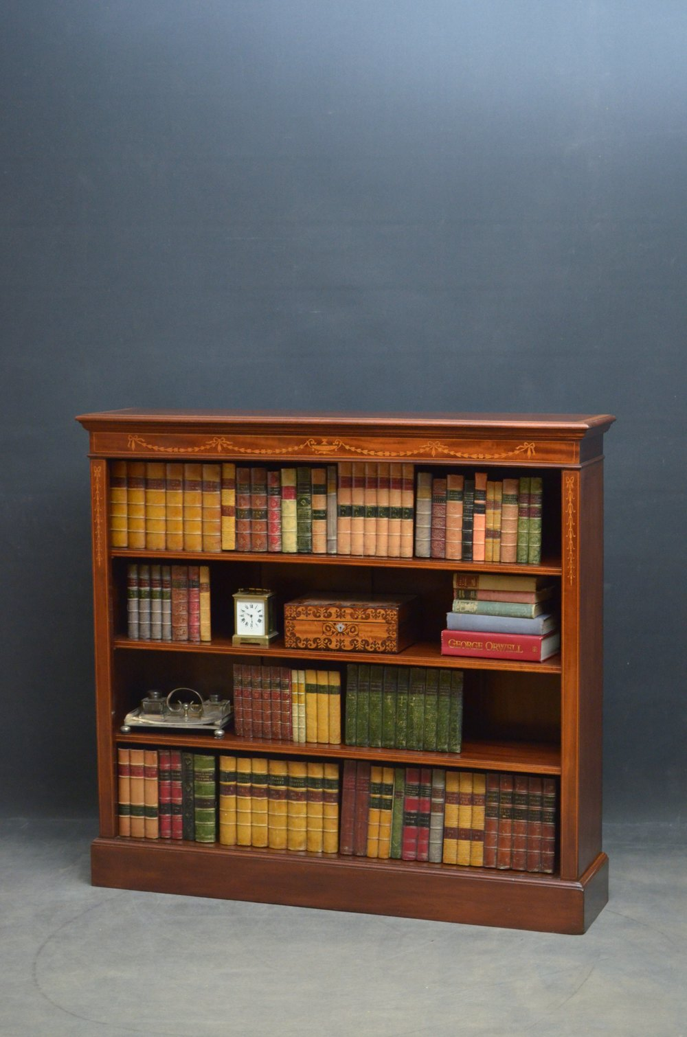 Sheraton Revival Open Bookcase In Mahogany Open Bookcase Bookcase Antique Bookcase