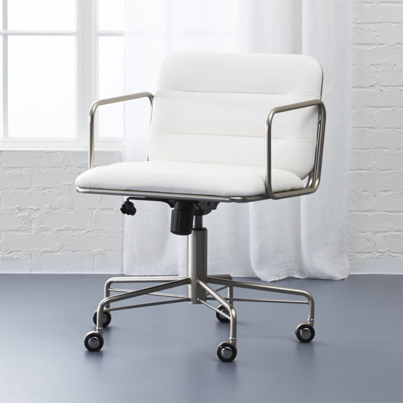 Shop Mad White Snakeskin Chair Smart Design By Jannis Ellenberger Mixes Business With Pleasure Ta Modern Office Chair Office Furniture Modern Office Chair