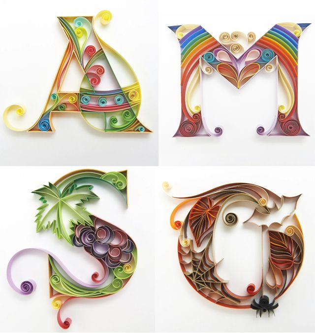 calender Cose di carta Pinterest Quilling, Paper quilling and Quilling letters