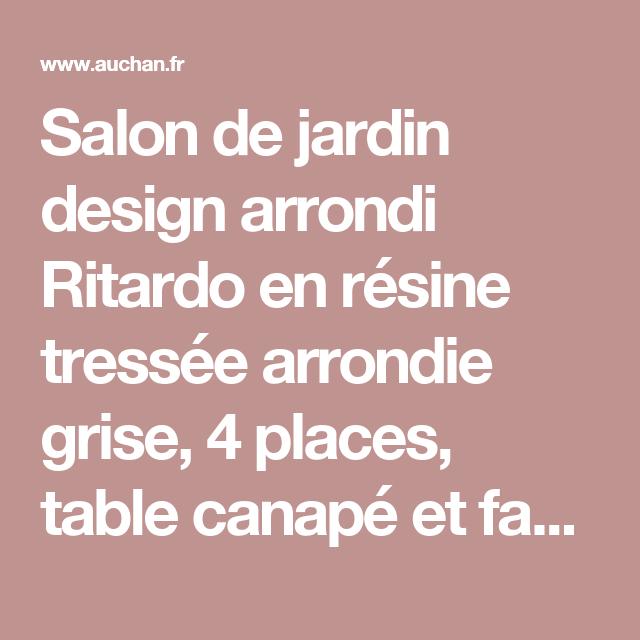 Salon de jardin design arrondi Ritardo en résine tressée arrondie ...