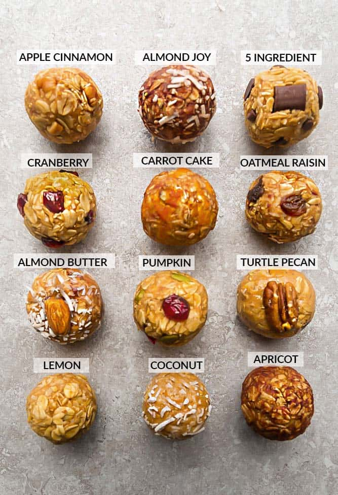 No Bake Energy Bites | Easy No Bake Energy Ball Recipes