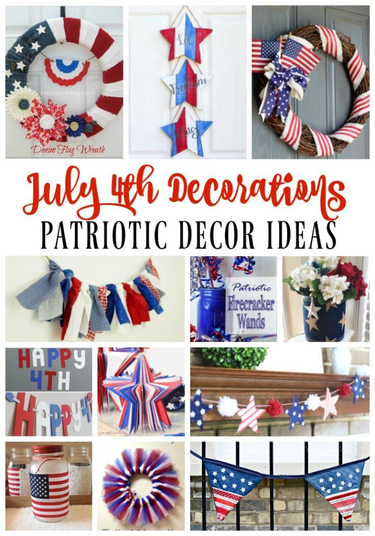 July 4th Decoration Ideas Red White Blue Patriotic Decor