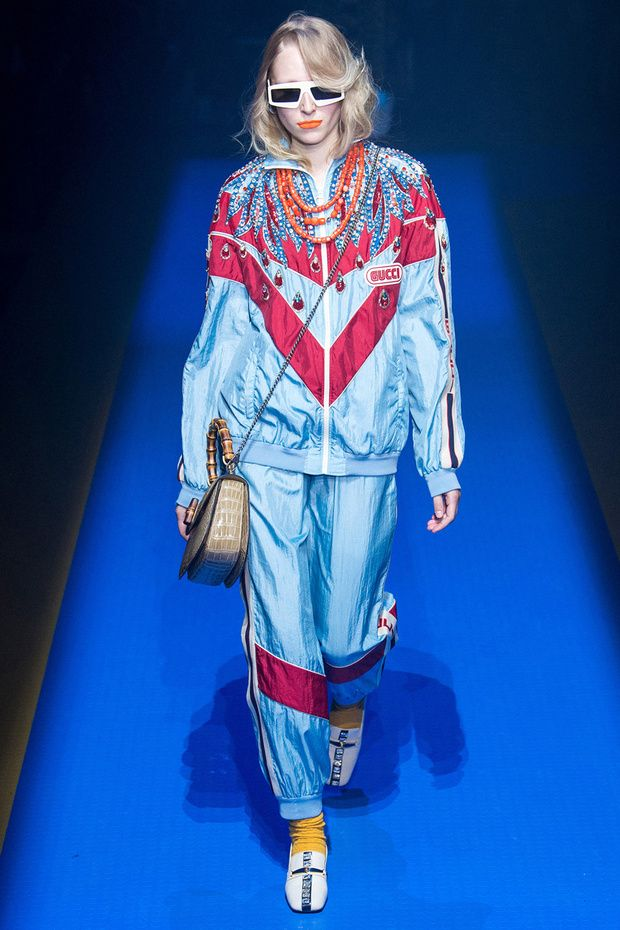 gucci shell suit spring summer 2018, from Pinterest user