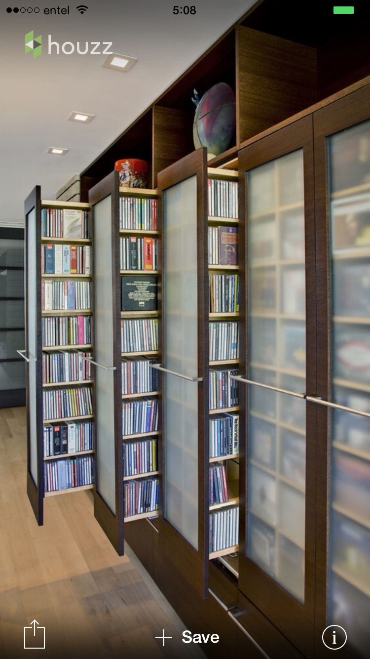 Repisas Para Pel Culas Bibliotecas Pinterest # Tiroir Rangement Dvd