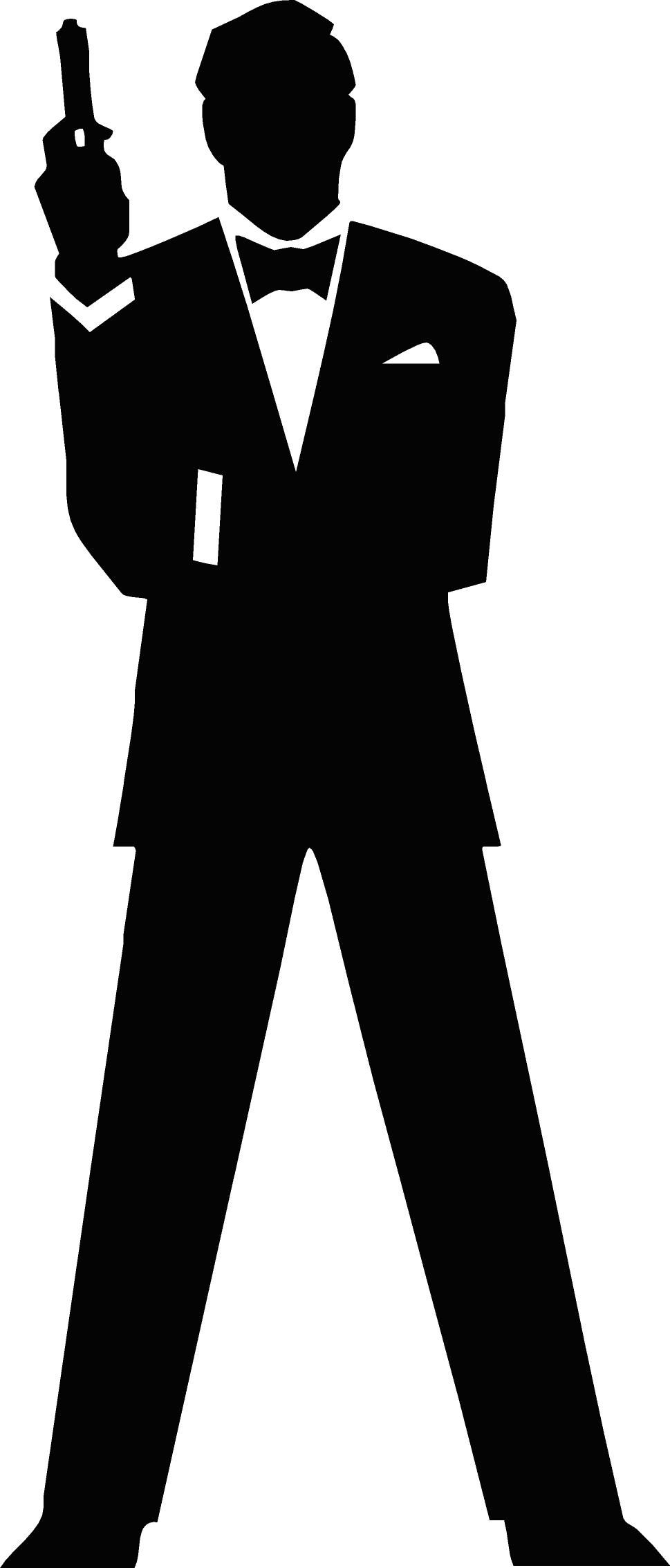 free vector James Bond Secret Agent 007 Black & White Silo ...