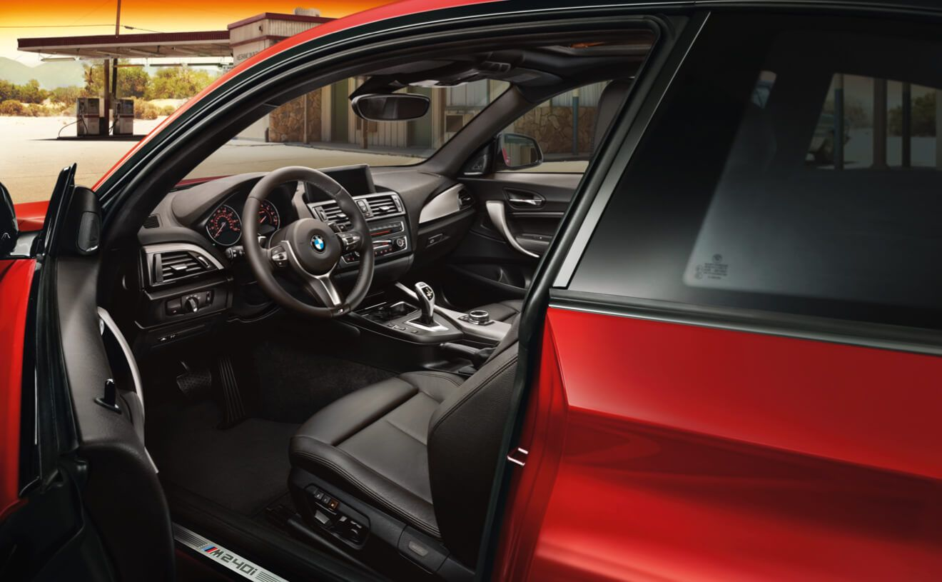 The Bmw M240i Coupe In Melbourne Red Metallic With Black Dakota Leather Interior Bmw 2 Coupe Bmw