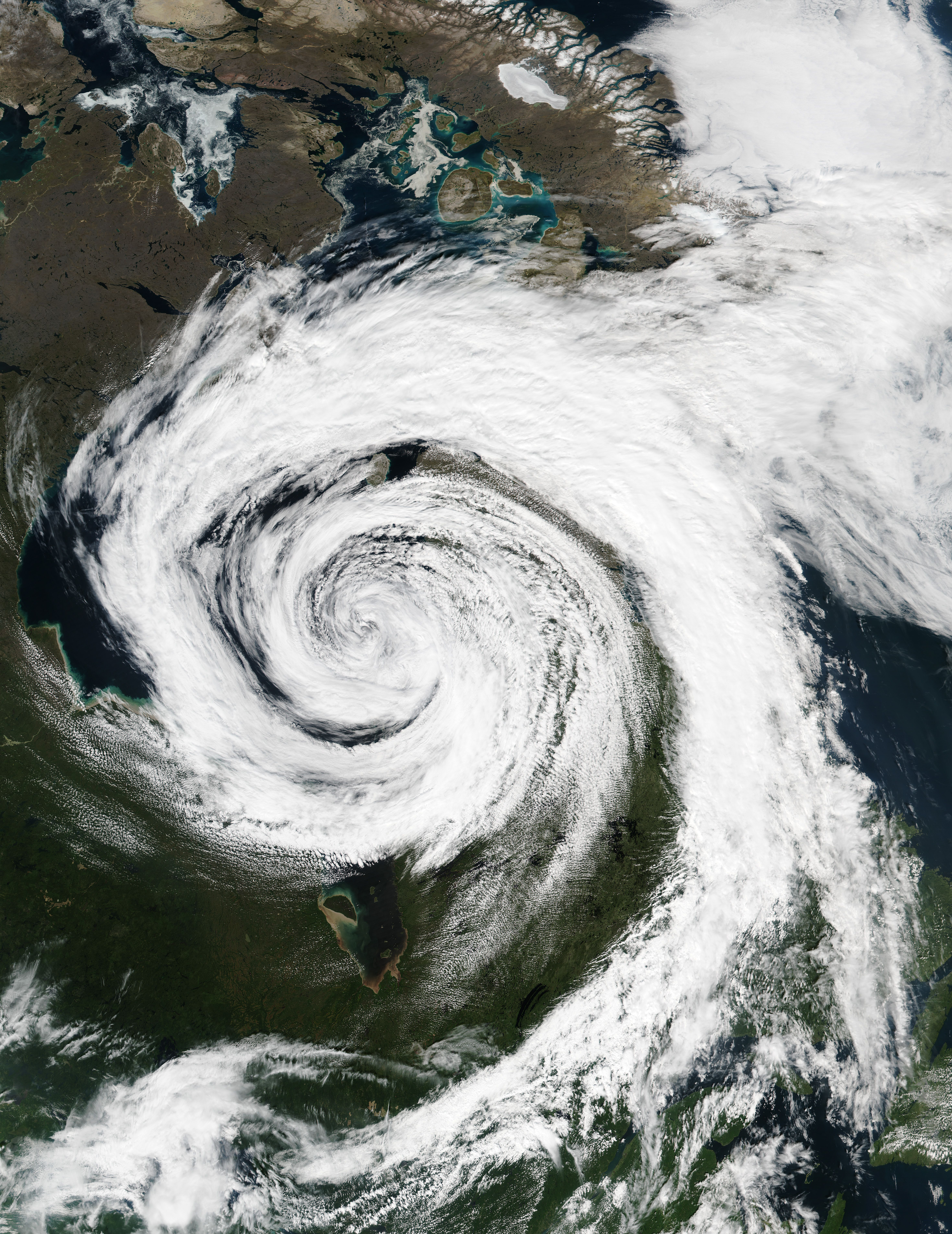 Extratropical Cyclone Over Hudson Bay Ireland Image Of The Day Ireland Landscape