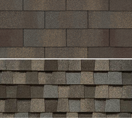 3 tab shingle colors green vintage cambridge 3tab shingles top photo vs architectural bottom photoarchitectural shingles are the best value for your money photo