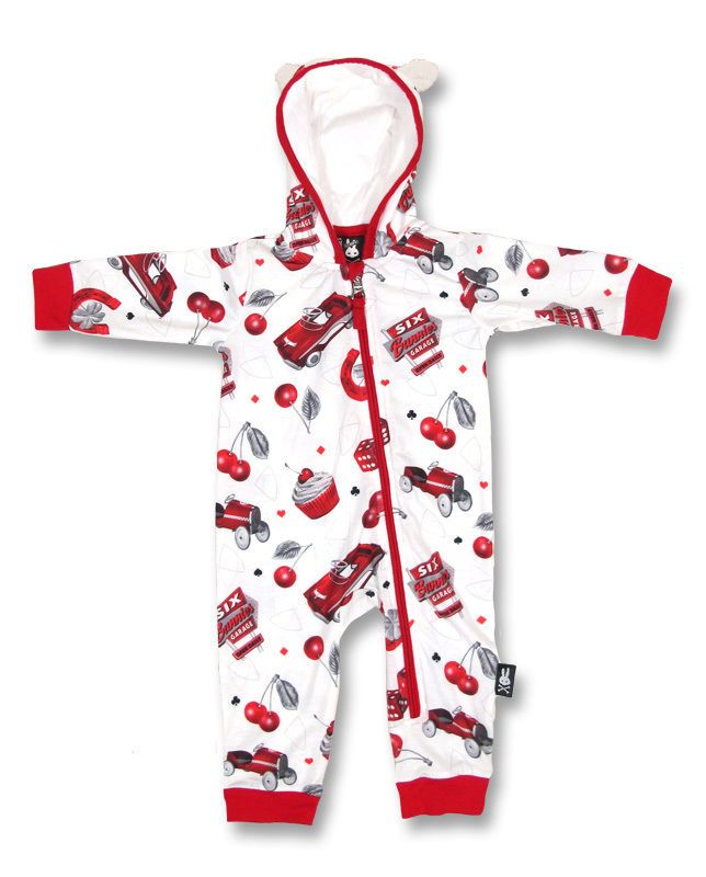 d131712eb31 Six Bunnies Baby HOTROD CHERRY Playsuit .Tattoo