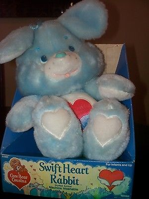 1984 vintage Kenner SWIFT HEART RABBIT Care Bears Cousins BOX plush toy MIB