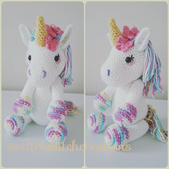 Free Crochet Unicorn Pattern - thefriendlyredfox.com | 570x570